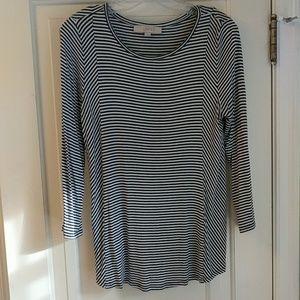 Adorable mixed striped LOFT shirt ❤️
